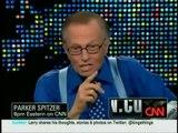Larry King gets trampled by Jon Stewart _Well John I got a t