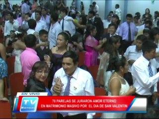 Chiclayo: En JLO se celebraron matrimonios masivos por dia de San Valentin 14 02 14