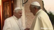 Pope Francis makes visit to Pope Emeritus Benedict XVI for Christmas