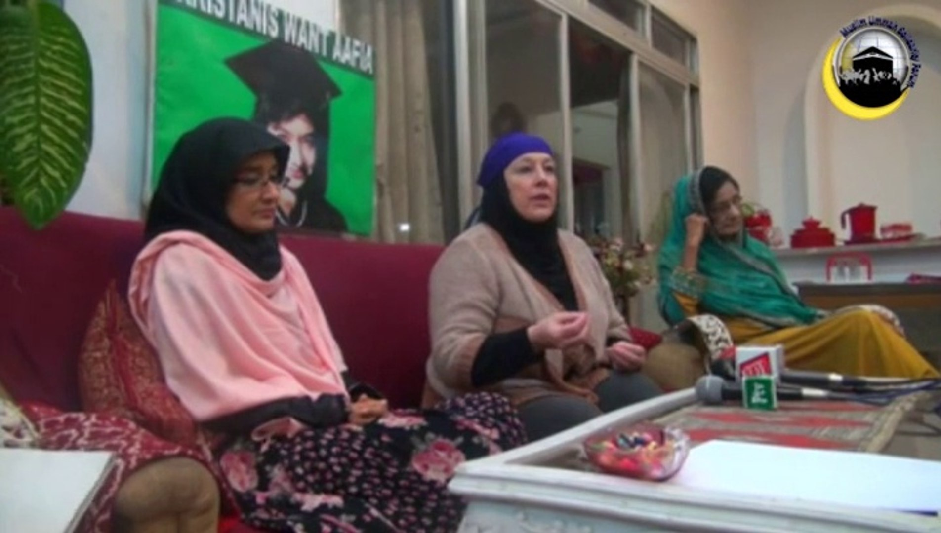 MUSF arranged a meeting of Sister Yvonne Ridley with Afia Movement
