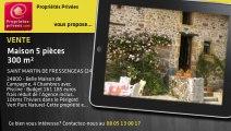 A vendre - maison - SAINT MARTIN DE FRESSENGEAS (24800) - 5 pièces - 300m²