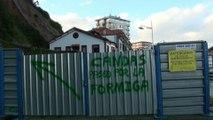 Protesta por cierre Paseo Marítimo Candás, Asturias