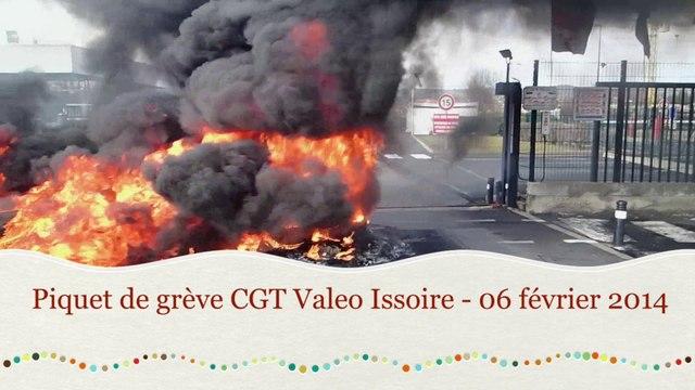 Piquet de grève CGT Valeo Issoire - 06 février 2014