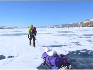 Traversée hivernale du lac Baïkal