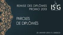 Paroles de diplômés - Remise des diplômes de la promo 2013