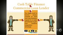Cash Table Finance|Commercial Loans for bad credit | Commercial Mortgage Financing