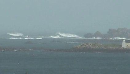 tempête sur l'Aber Wrac'h (janvier et  février 2014)
