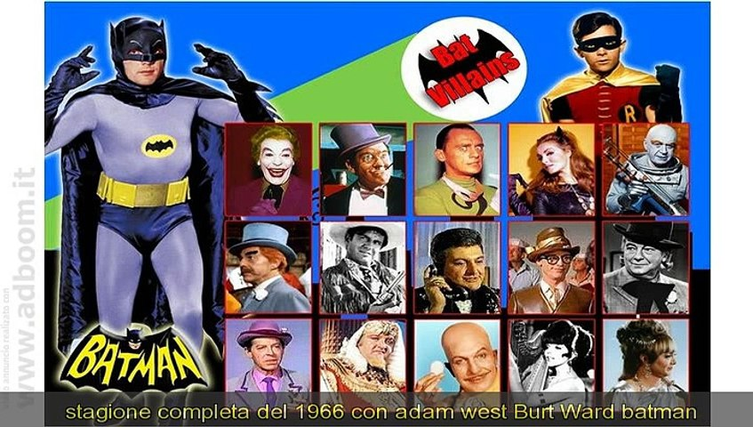 MILANO,    SERIE TV TELEFILM BATMAN DVD ADAM WEST BURT WARD 1966 EURO 10