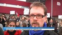 Education : Pas de cours au collège François-Rabelais, enseignants et parents d'élèves manifestent