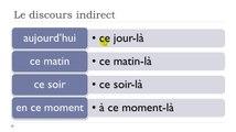 Learn French #Unit 10 #Lesson N = Le discours indirect et les expressions de temps