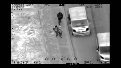 Les images de l'hélicoptère de la sécurité
