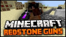 Minecraft Mod Spotlight : REDSTONE GUNS MOD! 1.7.4 ADDS SNIPER, MINI - GUN, HALO PLASMA GUN + MORE!
