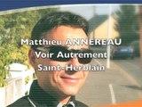 55 secondes à Matthieu Annereau - Numéro 4 : développement économique et emploi pour St Herblain – Municipales 2014
