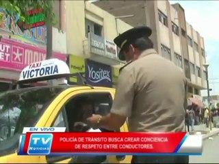 Chiclayo: Policia de transito busca concientizar el respeto entre conductores 18 02 14