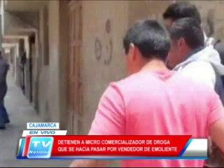 Cajamarca: Detienen a microcomercializador de droga 18 02 14
