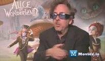 Tim Burton talks about working with Johnny Depp on Alice In Wonderland (Low)