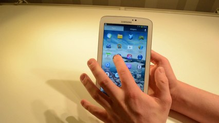 Samsung Galaxy Tab 3 7.0 Hands-On Video