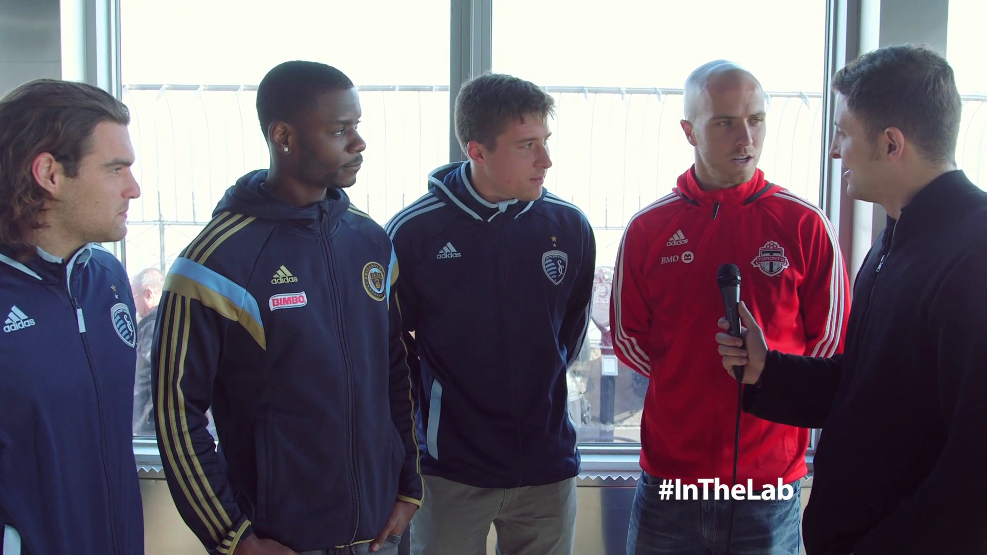 MLS Soccer Stars Bradley, Edu, Zusi & Besler #InTheLab