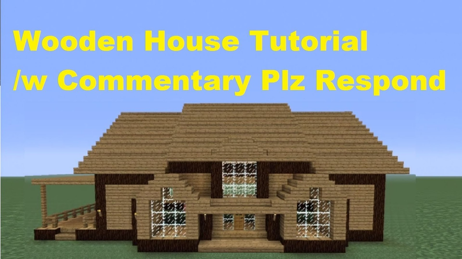 Minecraft 360 How To Build A Wooden House House Number 3 Video Dailymotion