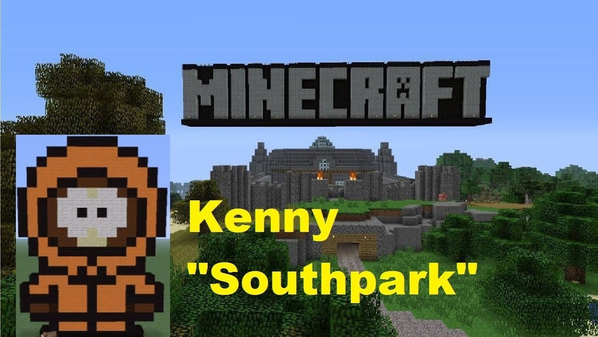 Minecraft Pixel Art Kenny Southpark Tutorial Video Dailymotion