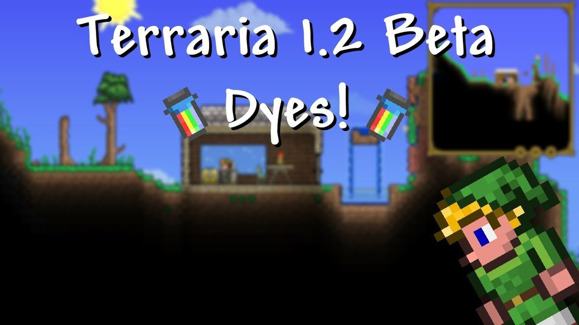 Terraria 1 2 - Beta Gameplay! Dyes w/ Hero and Yrimir Styles! EXCLUSIVE