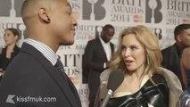 Kylie Minogue - kiss fm UK interview at  BRIT Awards 2014