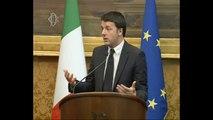 Roma - Le consultazioni di Matteo Renzi. Matteo Renzi (19.02.14)