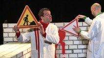 Bonhomme rouge et bonhomme vert font leur spectacle ! - Filmé par © Pellicam productions