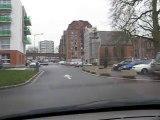 Traversée du parking de la place Verte à Maubeuge