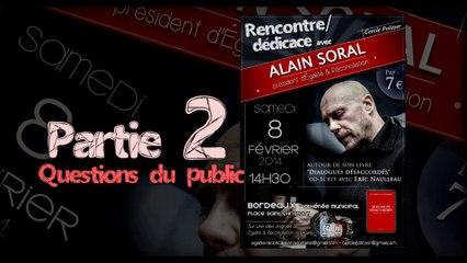 Rencontre / Dédicace avec Alain Soral à Bordeaux le 8 Février 2014_partie2