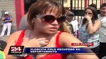 Con un cerrajero Flor Polo recuperó su departamento en Los Olivos