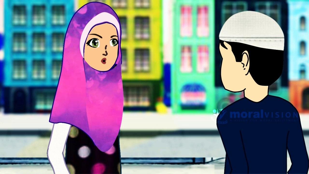 Removing Stones is a charity - Islamic Cartoons - (Urdu)