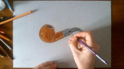 Hyperrealistic Speed Drawing of a Pipe