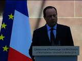 François Hollande rend hommage aux fusillés du Mont Valérien - 21/02