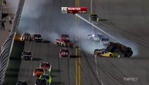 NASCAR Sprint cup Daytona Duel 2 2014 Huge crash Bowyer
