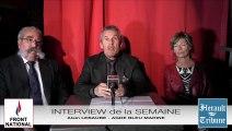 AGDE - 2014 - Alain LEBAUBE - Candidat du FRONT NATIONAL et d'AGDE BLEU MARINE par Didier DENESTEBE
