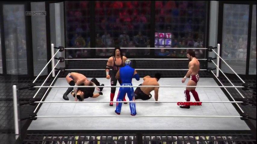PS3 - WWE 2K14 - Elimination Chamber - Cruiserweight Championship - Rollins, Punk, Bryan, Syxx, Mysterio & Fandango