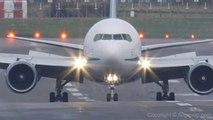 Atterrissage d'un avion avec de grosses turbulences