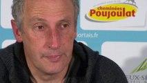 Conférence de presse Chamois Niortais - SM Caen (0-0) : Pascal GASTIEN (NIORT) - Patrice GARANDE (SMC) - 2013/2014