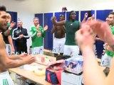 La joie des Verts après Bastia 0-2 ASSE