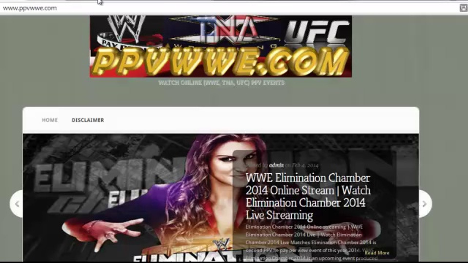 Watch Elimination Chamber 2014 Online Matches Streaming in HD | WWE Elimination Chamber 2014 Live
