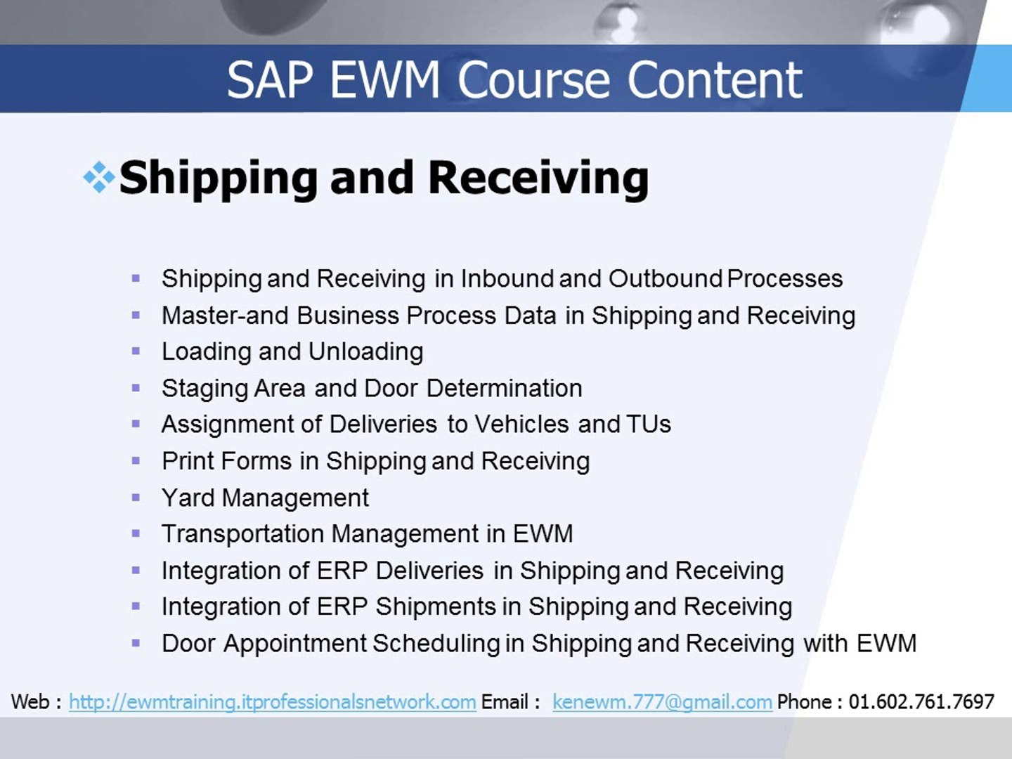SAP EWM Training | SAP EWM Course | SAP EWM Training Online
