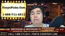 Michigan St Spartans vs. Michigan Wolverines Pick Prediction NCAA College Basketball Odds Preview 2-23-2014