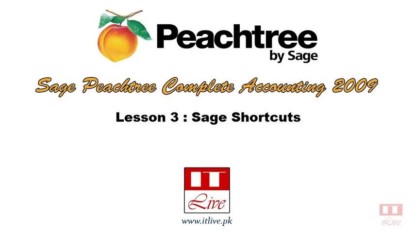 3 - Sage Peachtree 2009 Shortcuts (Urdu / Hindi)