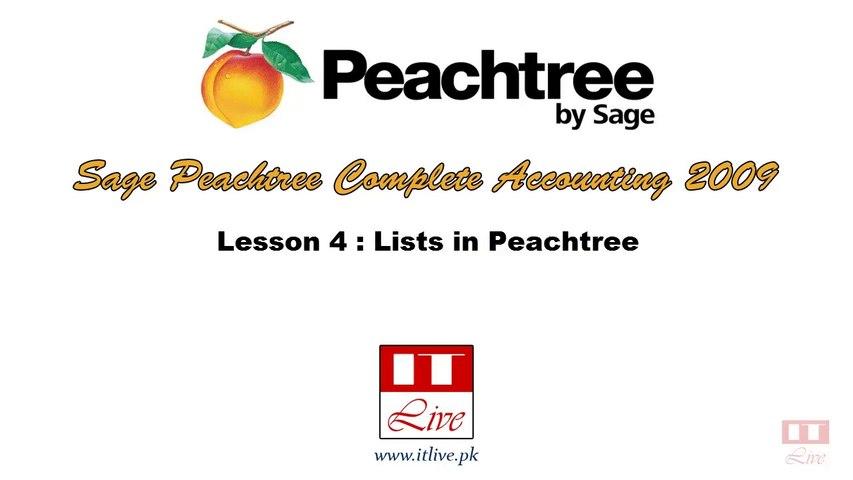 4 - Exploring Lists in Peachtree Accounting 2009 (Urdu / Hindi)