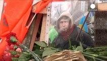 Ucraina, l'omaggio alle vittime di Maidan