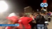 لحظة الأشتباكات بين قوات الأمن والتراس اهلاوى