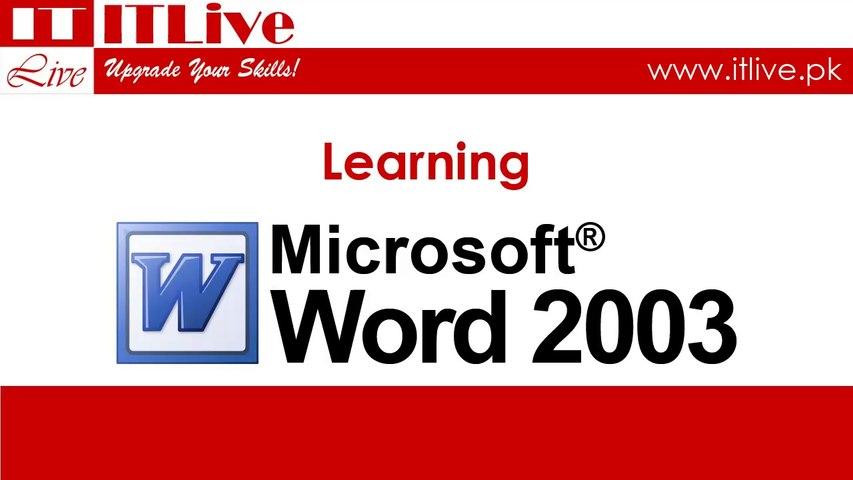 35 - Setting Formatting Defaults in Word 2003 (Urdu / Hindi)