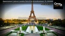 Appartement 2 pièces à vendre, Paris 01er Arrondissement  75, 395000€