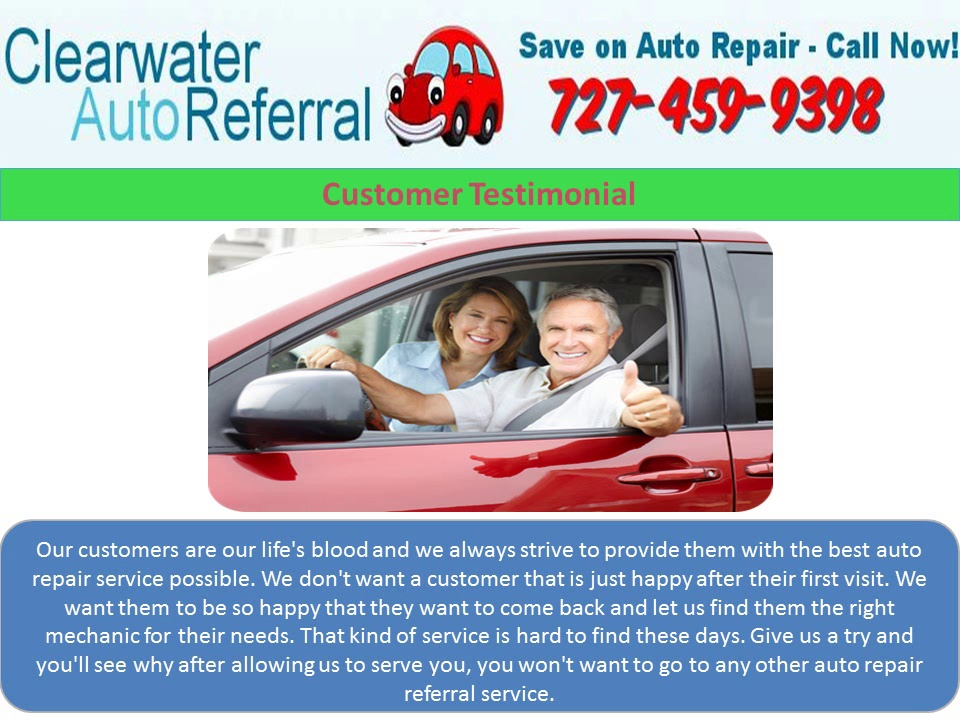 Clearwater Auto Referral : (727) 459 9398